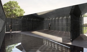 Aligned with the Greenwich Meridian … how Escobedo's enclosed courtyard will look.