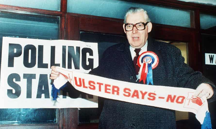 The former DUP leader Ian Paisley in 1986, a 'quite grim' time in Northern Ireland, recalls Paul Johnson.