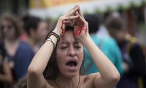 Artist Mandy Joha At A Violence Against Women Protest In Guatemala City