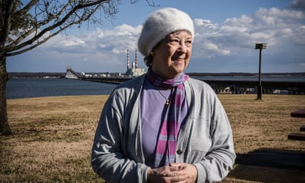 """""""We all have a love-hate relationship with the bridge because of the back-ups,"""" said Maria Estevez, 73, a secretary, of the Harry W Nice Memorial Bridge."""