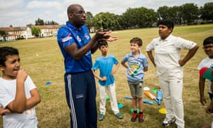 Ray Tudor teaches young cricketers of south Asian heritage in Leyton, east London.