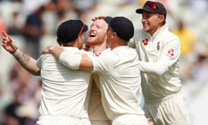 England's Ben Stokes celebrates the wicket of Hardik Pandya that wrapped up victory.