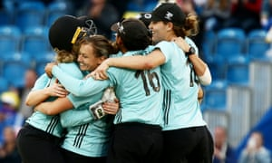 The Surrey Stars celebrate winning last year's Super League.