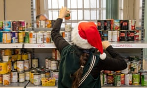 A volunteer at the Trussell Trust food bank In Liverpool.