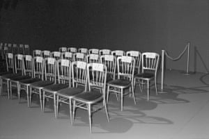Chairs at the Givenchy fashion show in Paris, 1996