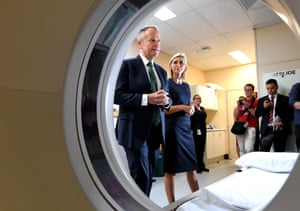 Bill Shorten (left) with Labor candidate for Longman, Susan Lamb, during a visit to Caboolture hospital.