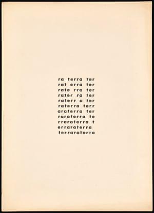 Terra (Earth) 1957 Décio Pignatari (Brazilian, 1927–2012) Screen print from Noigandres 4 (1958)