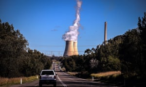 Smoke and steam rises from the Bayswater coal-powered thermal power station in New South Wales