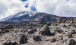 Looking to summit of Kilimanjaro