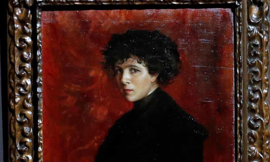 Detail from self-portrait by Maria Roesset (1882-1921).
