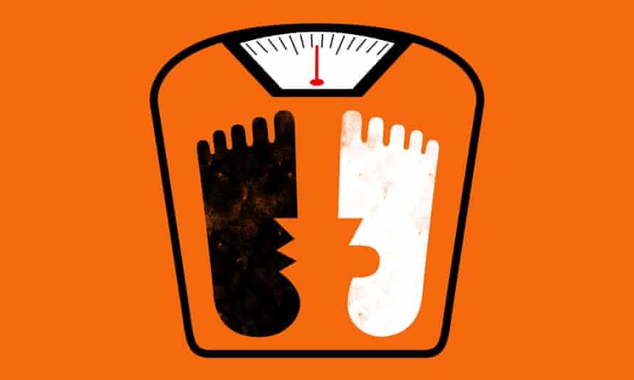 Illustration of feet on scales