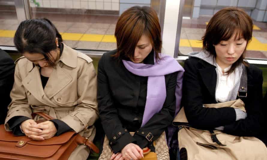 Commuters in Tokyo.