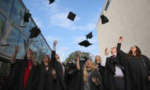 South Bank University students celebrate graduation in London
