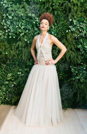 Andra Day, who plays Lady Day in The United States Vs Billie Holiday wore a gown from Chanel's SS21 couture collection that, aptly, referenced the 1930s.