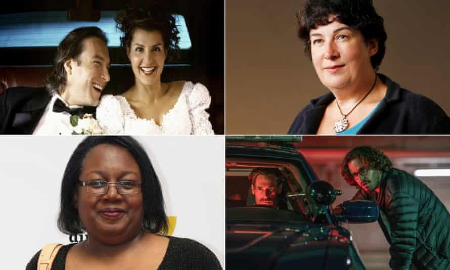 Nia Vardalos in My Big Fat Greek Wedding, author Joanne Harris, Edgar Wright directing Jon Hamm in Baby Driver and author Malorie Blackman.