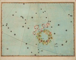Johann Bayer's 1639 illustration of Corona Borealis for his work Uranometria.
