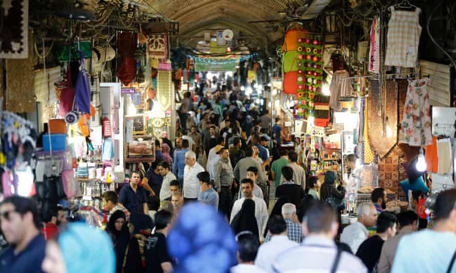 Shoppers browse in the Grand Bazaar in Tehran.