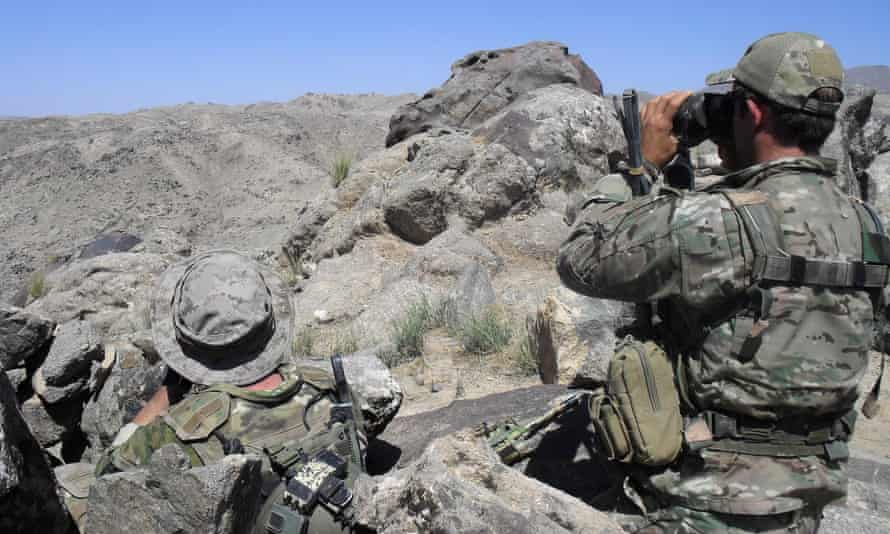 Australian special operations task group soldiers during the Shah Wali Kot offensive.