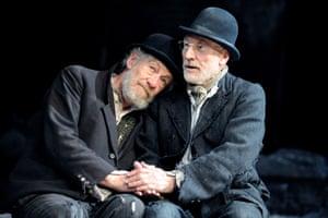 Warned him off Star Trek ... Ian McKellen with Stewart in Waiting for Godot.