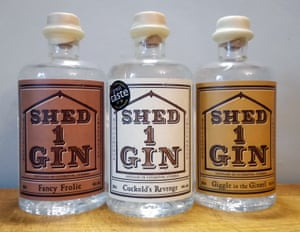 Three gins by Shed 1.