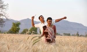 Akshay Kumar and Radhika Apte in Pad Man.