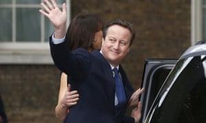 David Cameron waves goodbye to Downing Street