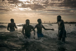 Wrestlers Cooling Off by Matthew Abbott