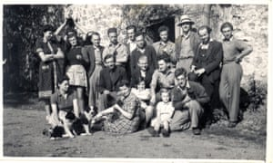 Young idealists … Collow Abbey Farm, Lincolnshire, August 1940. Roy Broadbent seated middle row with a tie; Dee, his wife, seated in middle at front