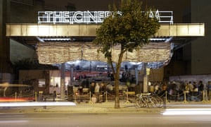 Assemble's first project, the Cineroleum, a temporary cinema inside a defunct petrol station