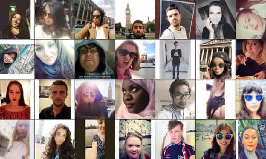 Some of the selfies used in the Big Bang Data project