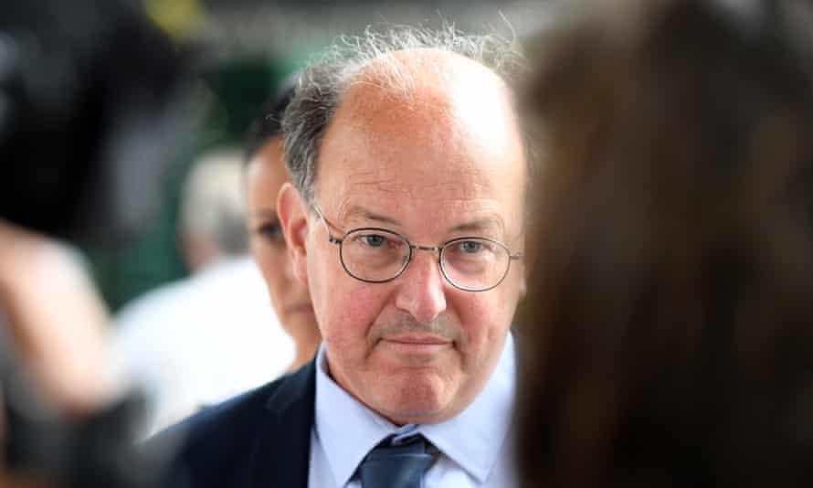 William Russell Massingham Pridgeon leaves Brisbane magistrates court