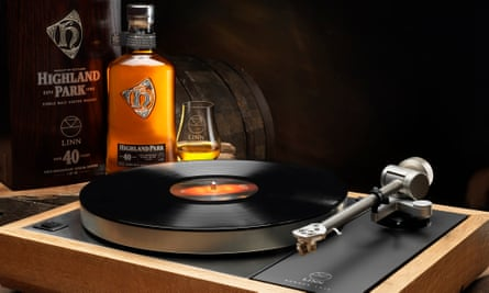 Limited edition Linn LP12 turntable, made from recycled whisky barrels, £25,000.