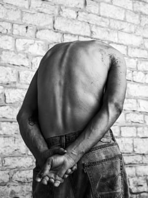 John, 2015From the book If This Is True… 'On my first night in Austin, Texas, I was walking down 6th Street, and my eyes were drawn to somebody's bare back – it was beautiful. The back had so much beauty because of its shape and skin, yet held so much pain … The back belonged to John, a 34-year-old man who has been living on the street for 19 years. John was suffering from a severe form of scoliosis – hence the pronounced curve. I photographed him again, better this time. I stayed in Austin for a few days and would visit John several times a day. He became my homeless homie'