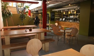 Interior of Eighth Day Cafe, Manchester