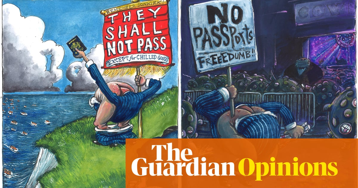 Martin Rowson on the UK's demand for, and hatred of, passports – cartoon
