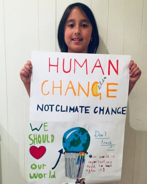 Nia and her climate strike poster