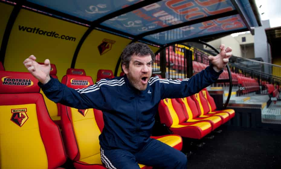 Miles Jacobson, studio director of Sports Interactive, at his beloved Watford FC.