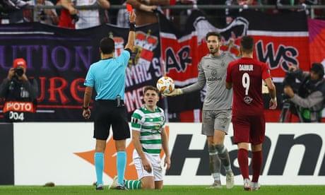 Europa League roundup: Ten-man Celtic blow lead against Salzburg