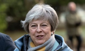 Theresa May attends church near her Maidenhead constituency on 20 January 2019