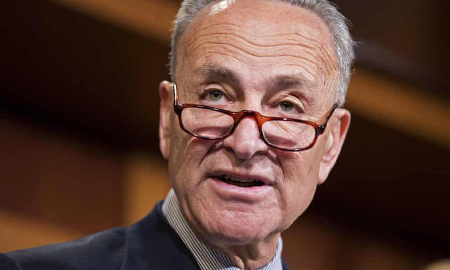 Senator Chuck Schumer speaks on Capitol Hill