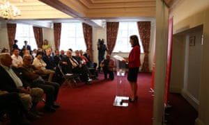 Liz Kendall making her campaign closing speech.
