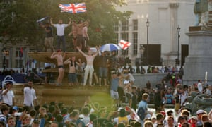 England supporters enjoy the Cricket World Cup triumph in time-honoured fashion in the fountains of London's Trafalgar Square.
