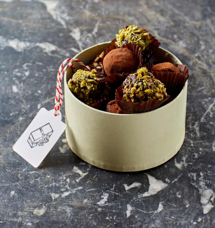 Dried lime truffles with honey and salt