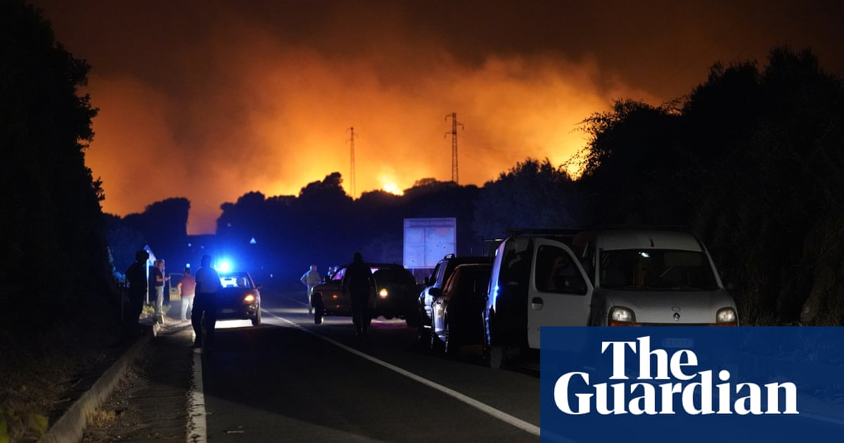 Firefighters battle wildfires raging across south-west Sardinia