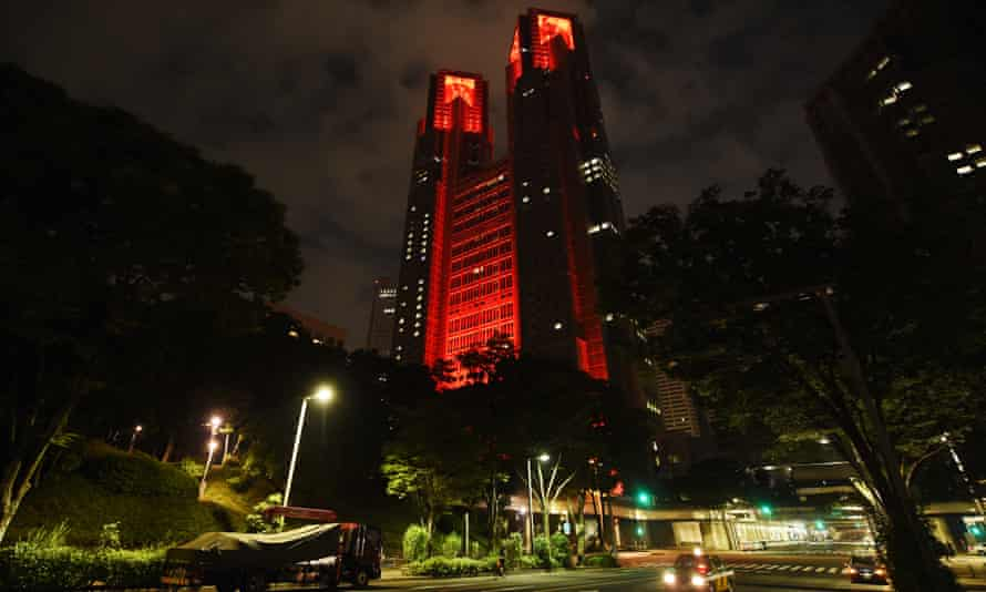 The Tokyo metropolitan government building in the city's Shinjuku district.