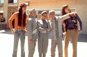 David Cassidy, second from right, in the movie The Spirit of '76, shot in 1990