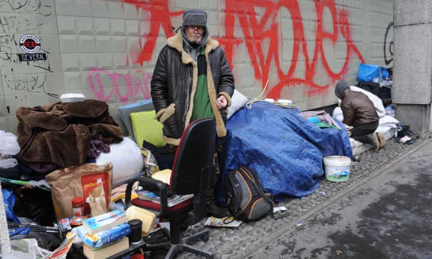 Tam from Edinburgh, a rough sleeper in London. From April, all English councils will have to prevent homelessness.