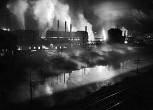 A steel mill.