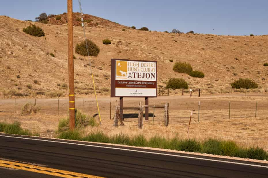 A Tejon Ranch sign near proposed site of Centennial.