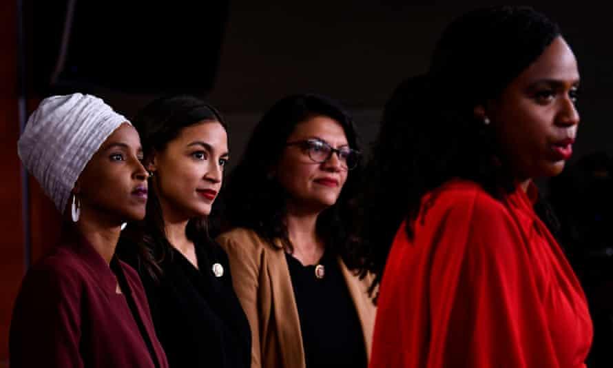 Ilhan Omar, Alexandria Ocasio-Cortez, Rashida Tlaib and Ayanna Pressley